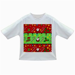Christmas pattern - green and red Infant/Toddler T-Shirts