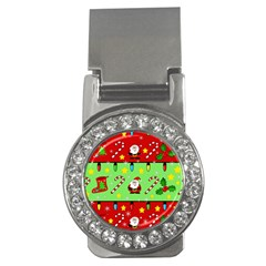 Christmas pattern - green and red Money Clips (CZ)