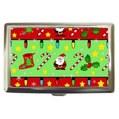 Christmas pattern - green and red Cigarette Money Cases