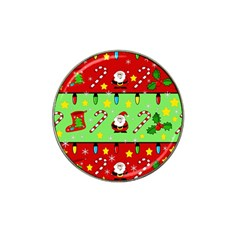 Christmas pattern - green and red Hat Clip Ball Marker