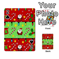 Christmas pattern - green and red Playing Cards 54 Designs