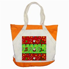 Christmas pattern - green and red Accent Tote Bag