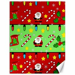 Christmas pattern - green and red Canvas 18  x 24