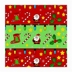 Christmas pattern - green and red Medium Glasses Cloth