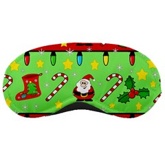 Christmas pattern - green and red Sleeping Masks