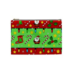 Christmas pattern - green and red Cosmetic Bag (Medium)
