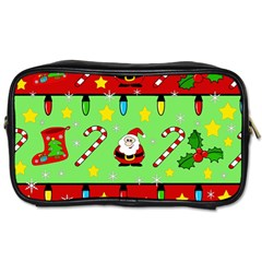 Christmas pattern - green and red Toiletries Bags 2-Side