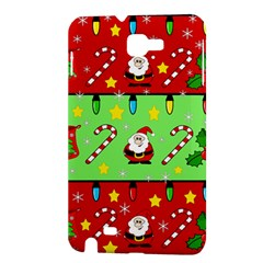 Christmas pattern - green and red Samsung Galaxy Note 1 Hardshell Case