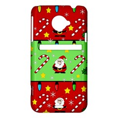 Christmas pattern - green and red HTC Evo 4G LTE Hardshell Case