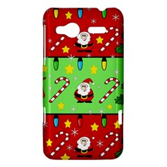 Christmas pattern - green and red HTC Radar Hardshell Case