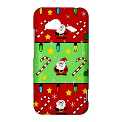 Christmas pattern - green and red HTC Droid Incredible 4G LTE Hardshell Case