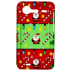 Christmas pattern - green and red HTC Incredible S Hardshell Case