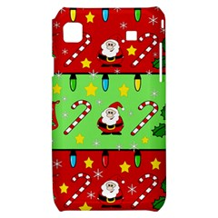 Christmas pattern - green and red Samsung Galaxy S i9000 Hardshell Case