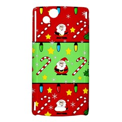 Christmas pattern - green and red Sony Xperia Arc