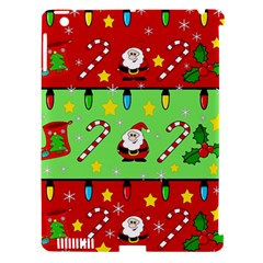 Christmas pattern - green and red Apple iPad 3/4 Hardshell Case (Compatible with Smart Cover)