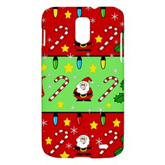 Christmas pattern - green and red Samsung Galaxy S II Skyrocket Hardshell Case