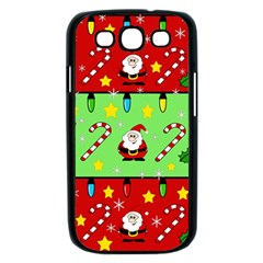 Christmas pattern - green and red Samsung Galaxy S III Case (Black)