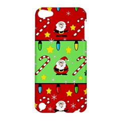 Christmas pattern - green and red Apple iPod Touch 5 Hardshell Case