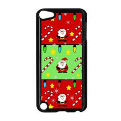 Christmas pattern - green and red Apple iPod Touch 5 Case (Black)