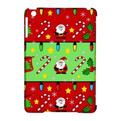 Christmas pattern - green and red Apple iPad Mini Hardshell Case (Compatible with Smart Cover)