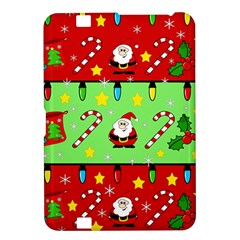 Christmas pattern - green and red Kindle Fire HD 8.9