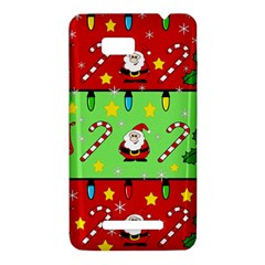 Christmas pattern - green and red HTC One SU T528W Hardshell Case
