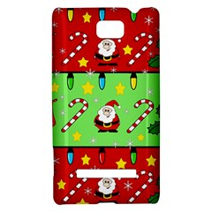 Christmas pattern - green and red HTC 8S Hardshell Case