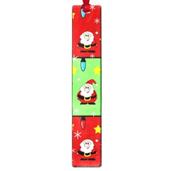 Christmas Pattern   Green And Red Large Book Marks