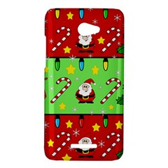 Christmas pattern - green and red HTC Butterfly X920E Hardshell Case