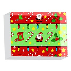 Christmas pattern - green and red 5 x 7  Acrylic Photo Blocks