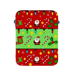 Christmas pattern - green and red Apple iPad 2/3/4 Protective Soft Cases