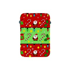 Christmas pattern - green and red Apple iPad Mini Protective Soft Cases