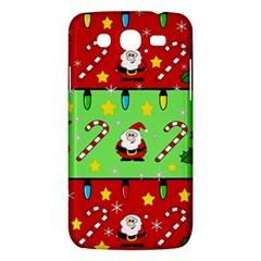 Christmas pattern - green and red Samsung Galaxy Mega 5.8 I9152 Hardshell Case