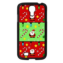 Christmas pattern - green and red Samsung Galaxy S4 I9500/ I9505 Case (Black)