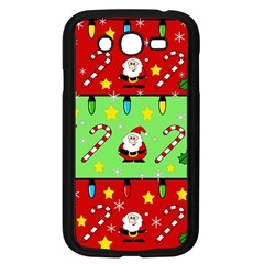 Christmas pattern - green and red Samsung Galaxy Grand DUOS I9082 Case (Black)