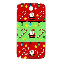 Christmas pattern - green and red Samsung Note 2 N7100 Hardshell Back Case