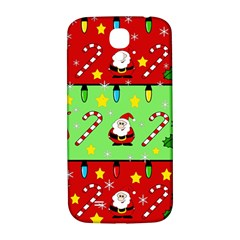 Christmas pattern - green and red Samsung Galaxy S4 I9500/I9505  Hardshell Back Case