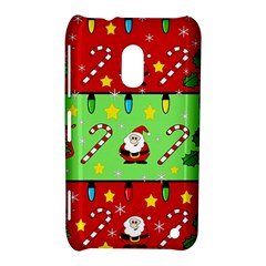 Christmas pattern - green and red Nokia Lumia 620