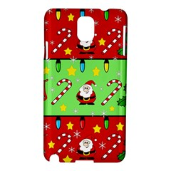 Christmas pattern - green and red Samsung Galaxy Note 3 N9005 Hardshell Case