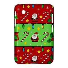 Christmas pattern - green and red Samsung Galaxy Tab 2 (7 ) P3100 Hardshell Case