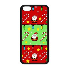 Christmas pattern - green and red Apple iPhone 5C Seamless Case (Black)