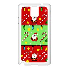 Christmas pattern - green and red Samsung Galaxy Note 3 N9005 Case (White)