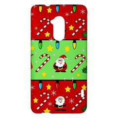 Christmas pattern - green and red HTC One Max (T6) Hardshell Case