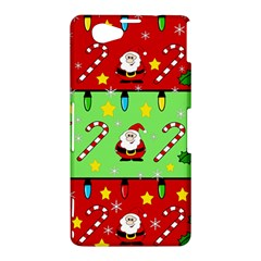 Christmas pattern - green and red Sony Xperia Z1 Compact
