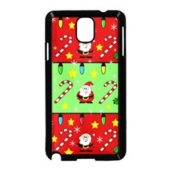 Christmas pattern - green and red Samsung Galaxy Note 3 Neo Hardshell Case (Black)