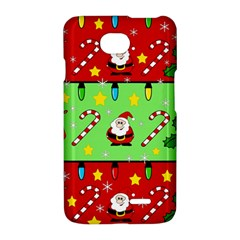 Christmas pattern - green and red LG Optimus L70