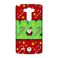 Christmas pattern - green and red LG G3 Hardshell Case