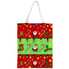Christmas pattern - green and red Classic Light Tote Bag