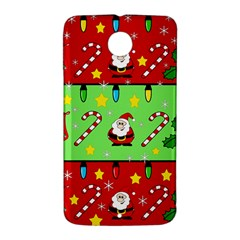 Christmas pattern - green and red Nexus 6 Case (White)