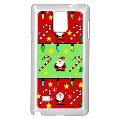 Christmas pattern - green and red Samsung Galaxy Note 4 Case (White)